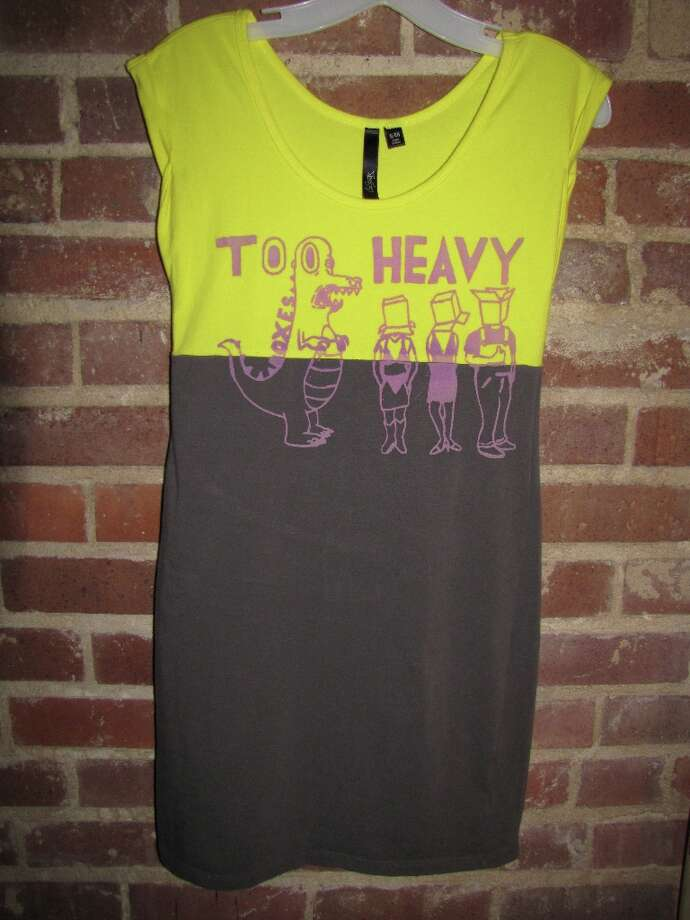 Too Heavy Boxes body con dress, available at THB shows