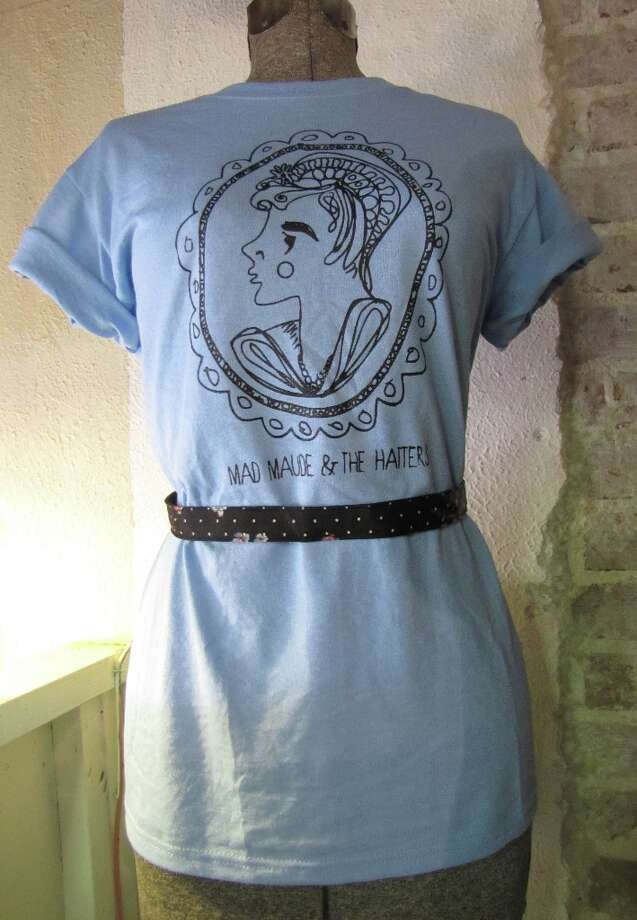 $10 Mad Maude and the Hatters tee, available at MM shows, $10