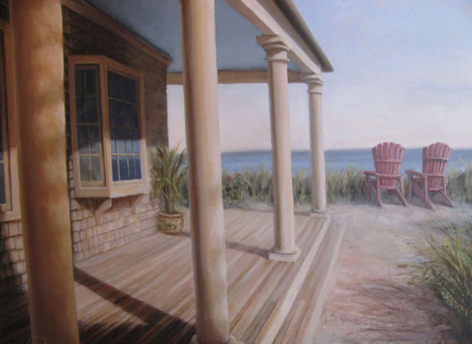 """Beach House,"" one of the many works of art by Fairfield painter Karl Soderlund, will be on display at the Geary Gallery of Darien during the exhibition of ""By Land and By Sea,î featuring the landscapes, seascapes and portraits. Photo: Contributed"