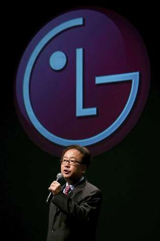 Wayne Park, LG Electronics USA President and CEO, speaks during a press conference during the 2013 International CES at the Mandalay Bay Convention Center on January 7, 2013 in Las Vegas, Nevada. CES, the world's largest annual consumer technology trade show, runs from January 8-11 and is expected to feature 3,100 exhibitors showing off their latest products and services to about 150,000 attendees. Photo: Justin Sullivan, Getty Images / 2013 Getty Images