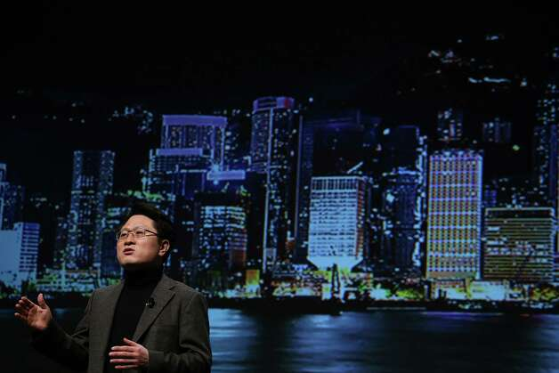 Dr. Skott Ahn, LG Electronics Chief Technology Officer, speaks during a press conference during the 2013 International CES at the Mandalay Bay Convention Center on January 7, 2013 in Las Vegas, Nevada. CES, the world's largest annual consumer technology trade show, runs from January 8-11 and is expected to feature 3,100 exhibitors showing off their latest products and services to about 150,000 attendees. Photo: Justin Sullivan, Getty Images / 2013 Getty Images