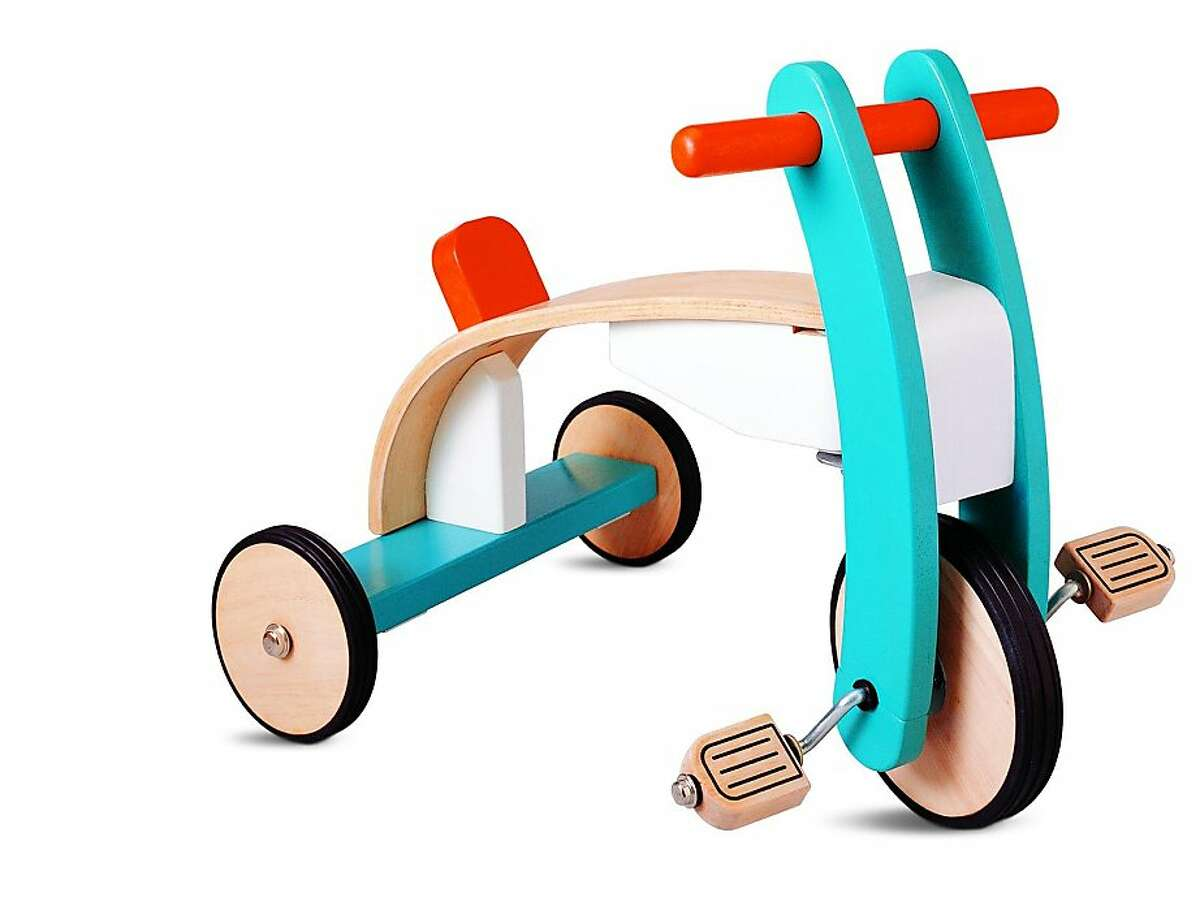 More or Less: $89.99 Plan Toys Wooden Trike at My Toy Box (MyToyBox.com)