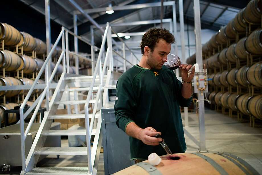 Paul Hinschberger works in Kosta Browne's new barrel room at the Barlow, a business park in Sebastopol. Photo: Alvin Jornada, Special To The Chronicle