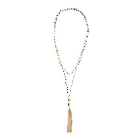 "The Gitane Tassel is a style Stella & Dot considers its most versatile: ""The Gitane Tassel necklace is a great delicate statement that has a removable tassel. It can be worn long, doubled or tripled as an everyday layering necklace."" ($69) Photo: Stella & Dot"