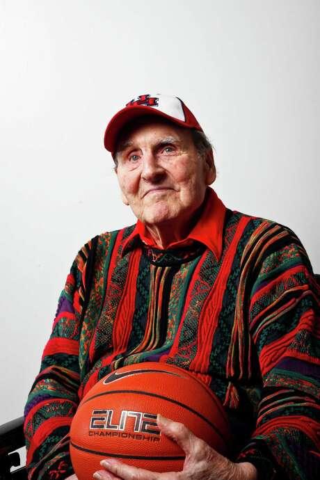 University of Houston Men's Basketball Coach, Guy Lewis, photographed at Hofheinz Pavilion, Thursday, Jan. 13, 2011, in Houston. ( Michael Paulsen / Houston Chronicle ) Photo: Michael Paulsen, Staff / Houston Chronicle