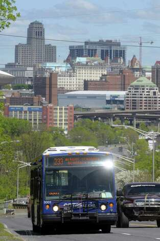 A CDTA bus is driven east on Columbia Turnpike on Wednesday afternoon, May 11, 2011 in Rensselaer, N.Y. (Paul Buckowski / Times Union archive) Photo: Paul Buckowski