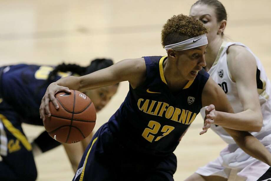 Senior guard Layshia Clarendon, guarded by Lexy Kresl in Cal's win over Colorado, is the Bears' second-leading scorer with 13 points per game. Photo: David Zalubowski, Associated Press