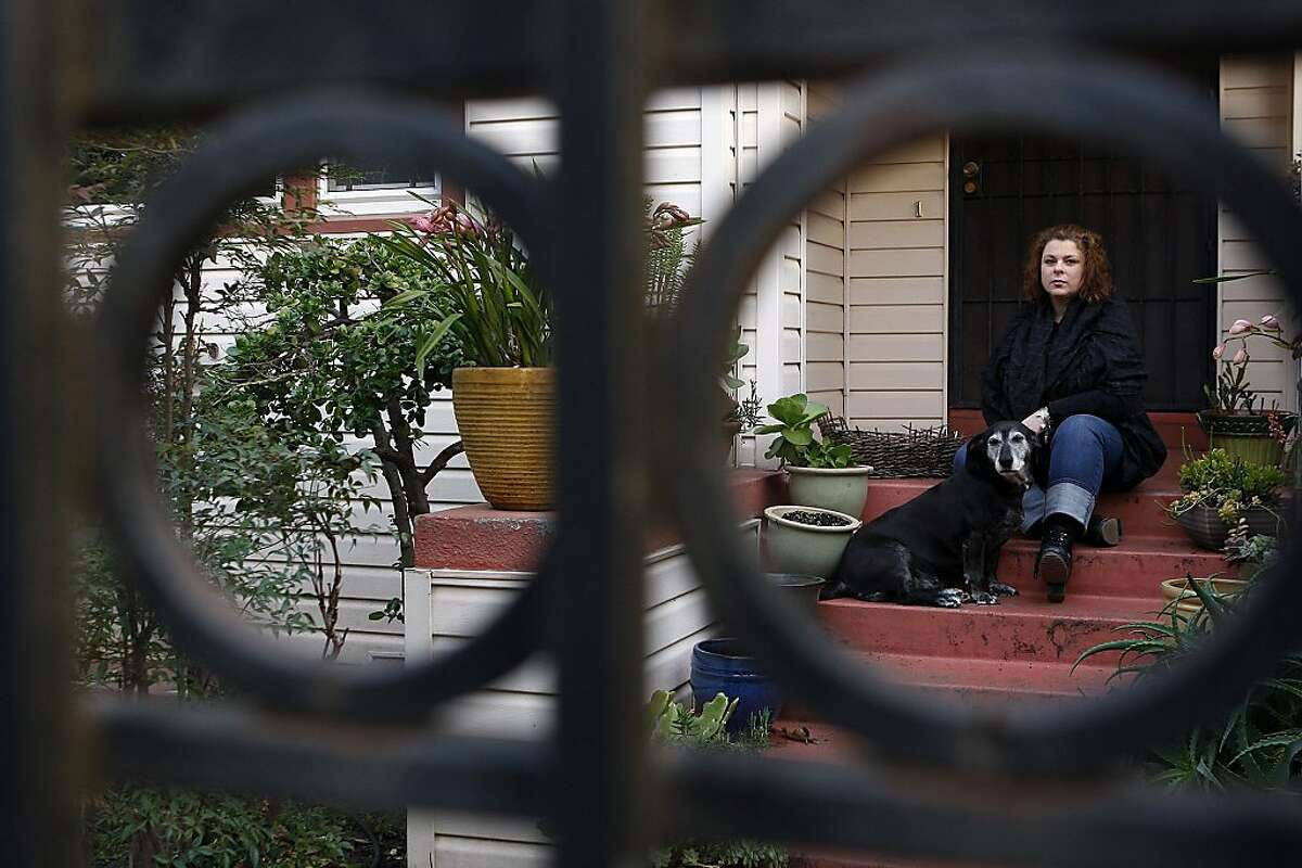 Laid-off Oakland Unified School District teacher, Gaylynne Hudson at her home on January 7, 2013 in Oakland, Calif. Hudson's home was supposed to be sold off yesterday but she managed to get the foreclosure postponed for a month.