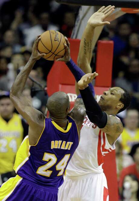 The Rockets' Greg Smith, right, had 21 points and nine rebounds against Kobe Bryant and the Lakers on Dec. 4. They meet again tonight at Toyota Center. Photo: Melissa Phillip, Staff / © 2012 Houston Chronicle