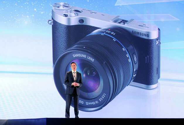 Samsung Electronics America Senior Vice President Michael Abary speaks at a press event at the Mandalay Bay Convention Center for the 2013 International CES on January 7, 2013 in Las Vegas, Nevada. CES, the world's largest annual consumer technology trade show, runs from January 8-11 and is expected to feature 3,100 exhibitors showing off their latest products and services to about 150,000 attendees. Photo: David Becker, Getty Images / 2013 Getty Images