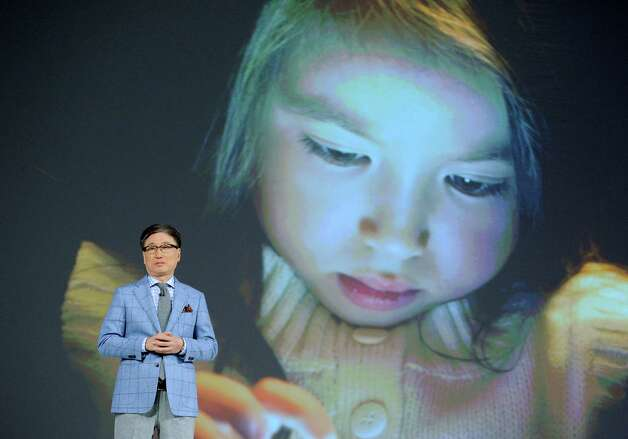 Samsung Electronics President Boo-Keun Yoon speaks during a press event at the Mandalay Bay Convention Center for the 2013 International CES on January 7, 2013 in Las Vegas, Nevada. Photo: David Becker, Getty Images / 2013 Getty Images