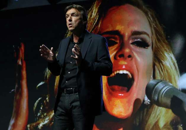 Sony Electronics President and COO Phil Molyneux speaks during a Sony press conference at the 2013 International CES at the Las Vegas Convention Center on January 7, 2013 in Las Vegas, Nevada. CES, the world's largest annual consumer technology trade show, runs from January 8-11 and is expected to feature 3,100 exhibitors showing off their latest products and services to about 150,000 attendees. Photo: Justin Sullivan, Getty Images / 2013 Getty Images