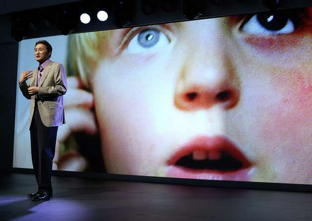 Sony CEO Kazuo Hirai speaks during a Sony press conference at the 2013 International CES at the Las Vegas Convention Center on January 7, 2013 in Las Vegas, Nevada. CES, the world's largest annual consumer technology trade show, runs from January 8-11 and is expected to feature 3,100 exhibitors showing off their latest products and services to about 150,000 attendees. Photo: Justin Sullivan, Getty Images / 2013 Getty Images