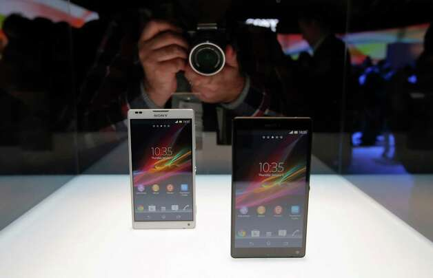 Sony's new Xperia Z smartphones are unveiled at the International Consumer Electronics Show in Las Vegas, Monday, Jan. 7, 2013. The 2013 International CES gadget show, the biggest trade show in the Americas, is taking place in Las Vegas this week. (AP Photo/Jae C. Hong) Photo: Jae C. Hong, Associated Press / AP