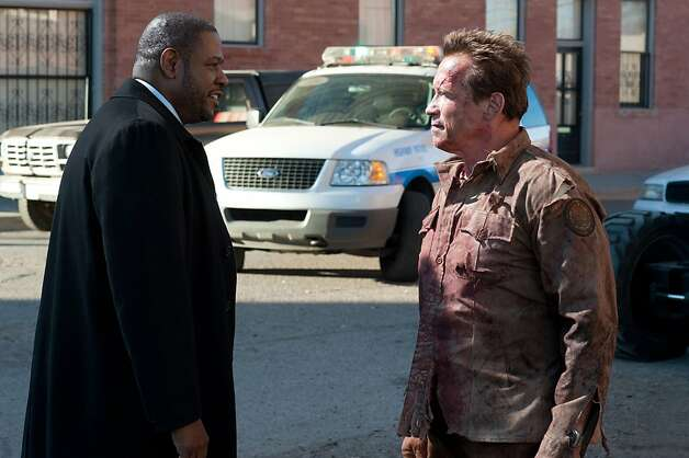 "Forest Whitaker and Arnold Schwarzenegger star in ""The Last Stand,"" opening Friday. Photo: Merrick Morton, Lionsgate"