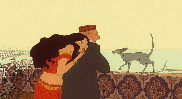 """The Rabbi's Cat,"" set in Algeria in the 1920s, is about a pet who learns to speak after swallowing the family parrot. The film opens Friday. Photo: Gkids"