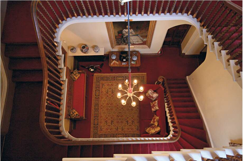 One of the castle's staircases. (http://www.highclerecastle.co.uk)