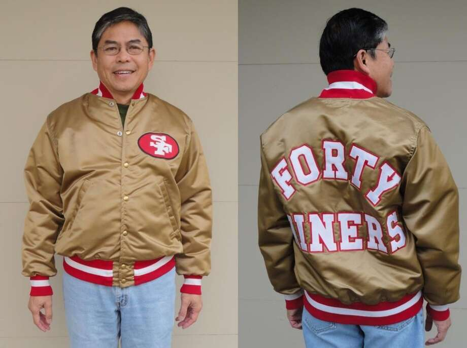 Steve Diala writes: Attached are pictures of my 1978 Forty Niners jacket. This item was made by Wilson and is an actual player's jacket with the shoulder pad cut. I always enjoy your columns! Steve added a p.s.: How about an article on Derby jackets?