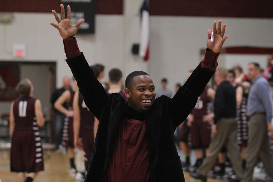 Ted Williams celebrates Jasper's last-second win over Lufkin Hudson. Photo: Jason Dunn