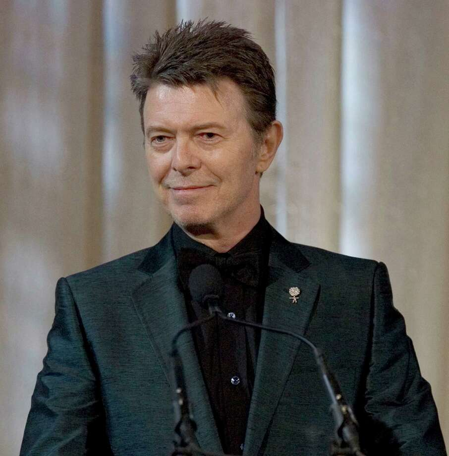 "FILE - David Bowie attends an awards show in this June 5, 2007 file photo taken in New York. The English singer announced Tuesday,  Jan. 8, 2013 his 66th birthday, that he has released his first song in 10 years titled ""Where Are We Now?"" A new album, ""The Next Day,"" will be out March 11 and 12 in the United Kingdom and the United States, respectively. (AP Photo/Stephen Chernin) Photo: STEPHEN CHERNIN"