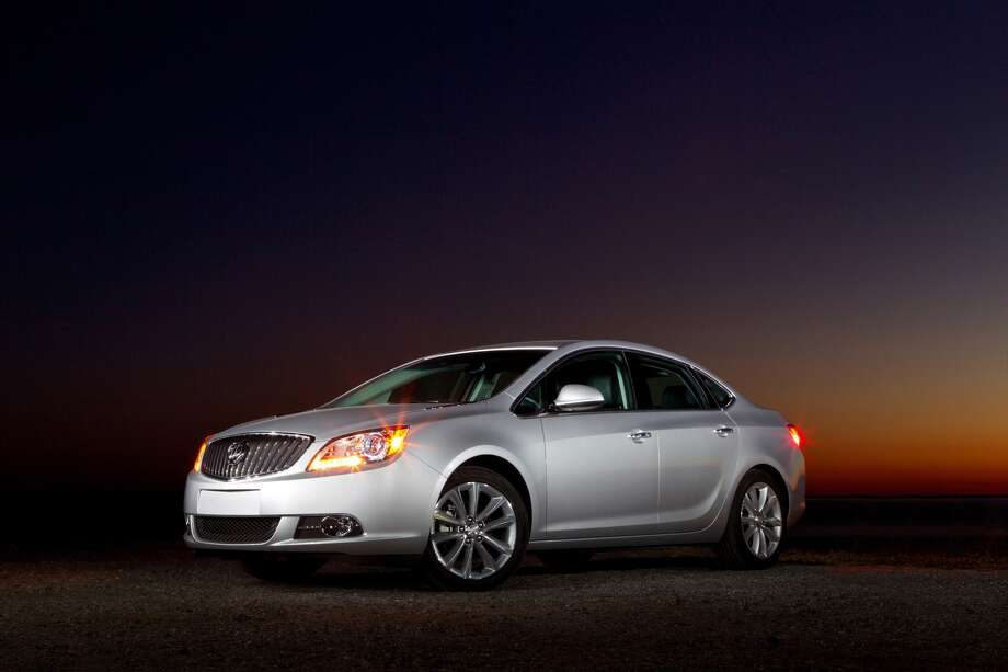 """Buick Verano: Buick has a long history of being a comfortable vehicle so it shouldn't come as a surprise that the automaker is on the list. What KBB said: """"The Verano coddles its occupants with a hushed cabin and compliant yet controlled ride, an impressive feat considering the car's sub-$24,000 base price.""""Base Price: $23,975 Photo: Buick"""