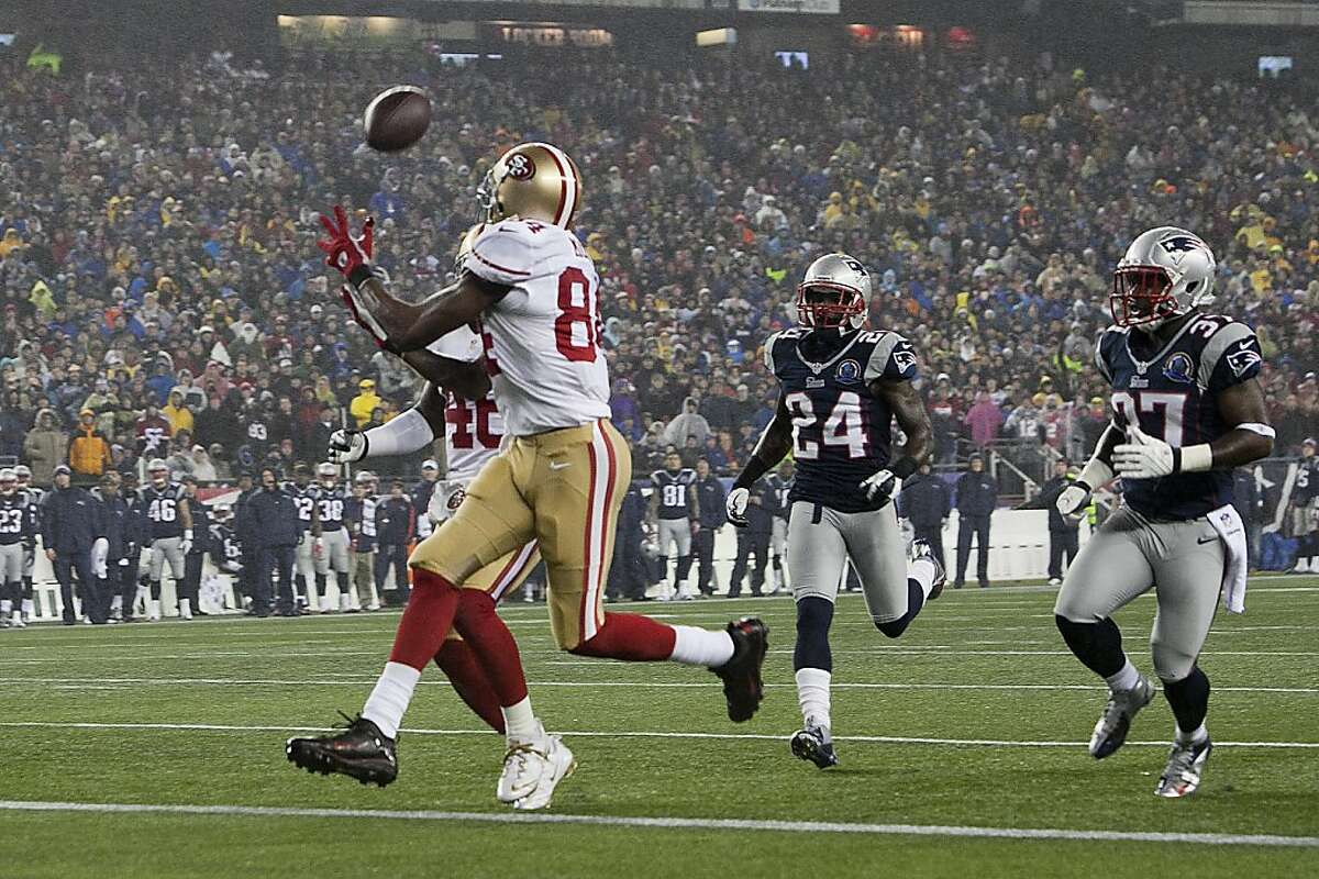 Randy Moss' touchdown in New England showed Kaepernick's softer side, but another throw dislocated one of Moss' fingers.