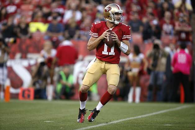 Quarterback Alex Smith (11) during the San Francisco 49ers game against the Seattle Seahawks at Candlestick Park in San Francisco, Calif., on Thursday October 18, 2012. Photo: Stephen Lam, Special To The Chronicle