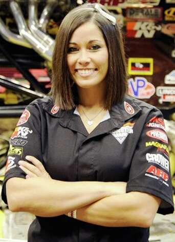 Monster truck driver Taryn Laskey, who'll drive Monster Mutt Dalmatian at the 2013 Monster Jam in San Antonio. Photo: Courtesy Photo