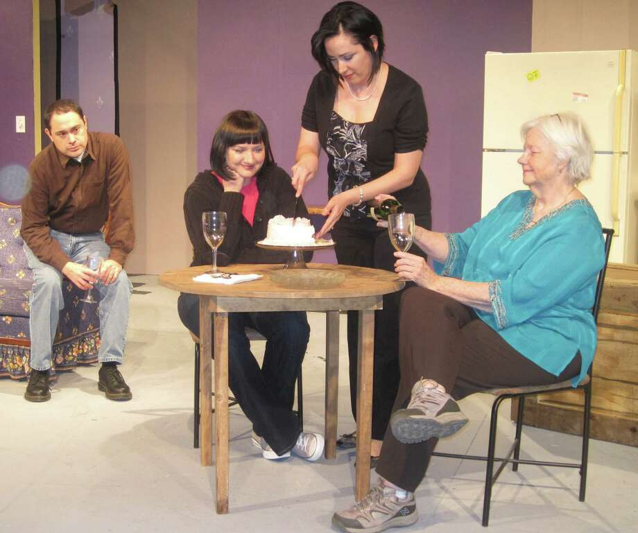 """The cast of Boerne Community Theatre's """"Rabbit Hole"""" includes, from left, Steven Valdez, Jackie Welch, Evie Armstrong and Kathleen Lovejoy. Courtesy Boerne Community Theatre Photo: Boerne Community Theatre"""