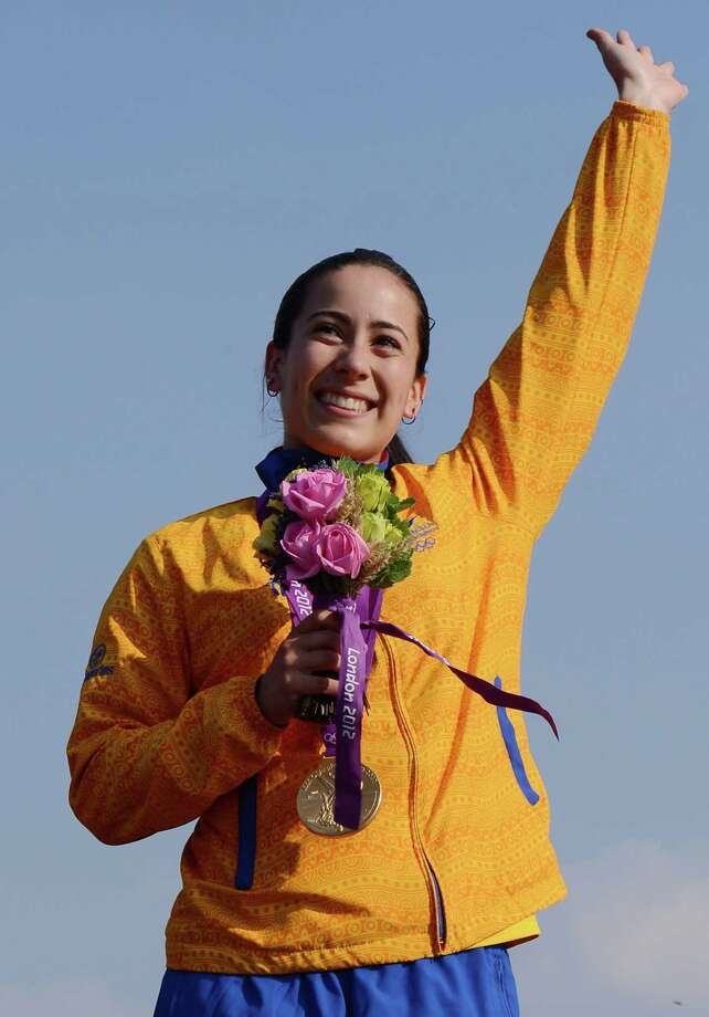 8. Mariana Colombia's Mariana Pajon won a gold medal in BMX cycling at the London 2012 Olympic Games.  Photo: CARL DE SOUZA, AFP/Getty Images / AFP