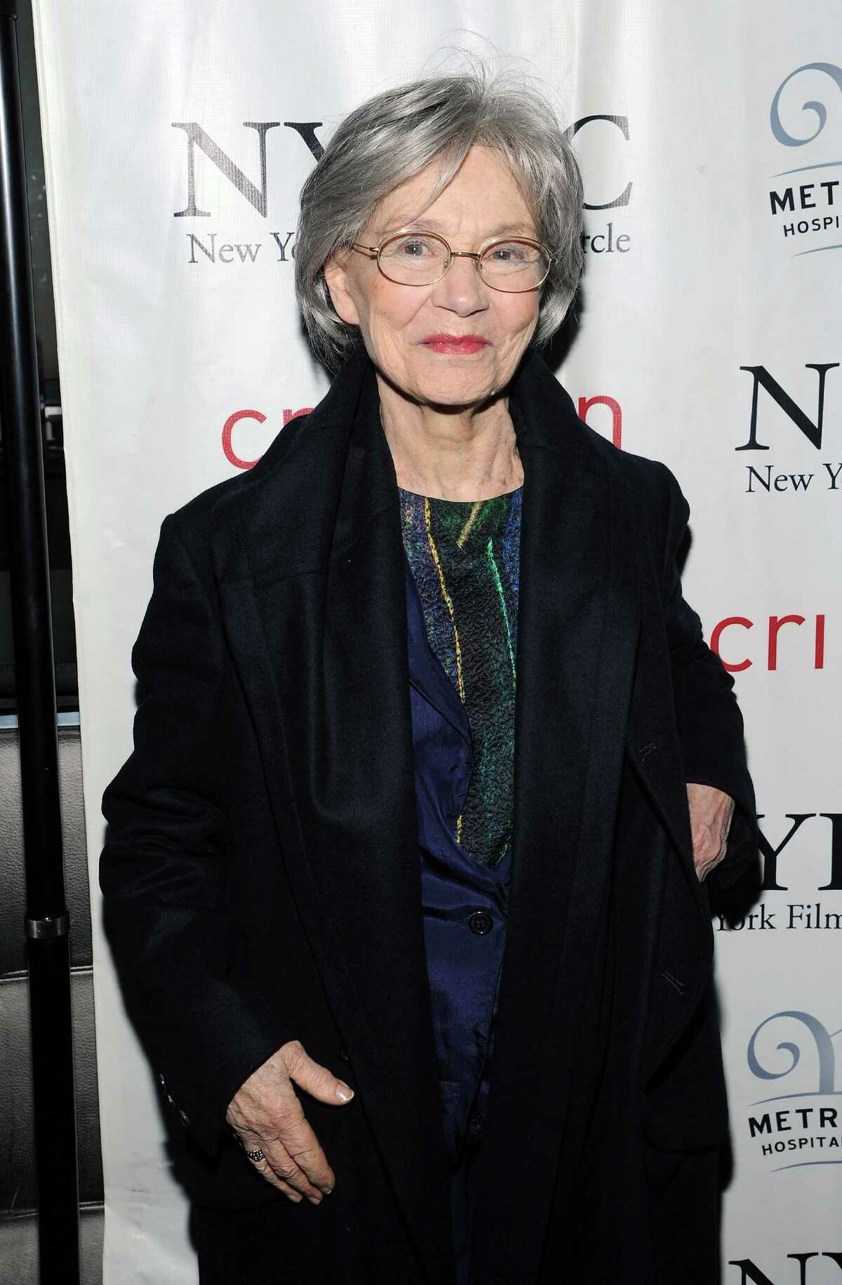 French actress Emmanuelle Riva arrives at the New York Film Critics Circle awards dinner at the Crimson Club on Monday Jan. 7, 2013 in New York.
