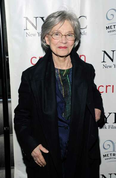 French actress Emmanuelle Riva arrives at the New York Film Critics Circle awards dinner at the Crim