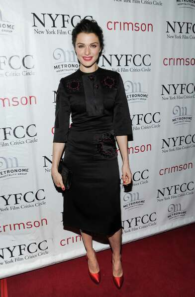 Best Actress winner Rachel Weisz arrives at the New York Film Critics Circle awards dinner at the Cr