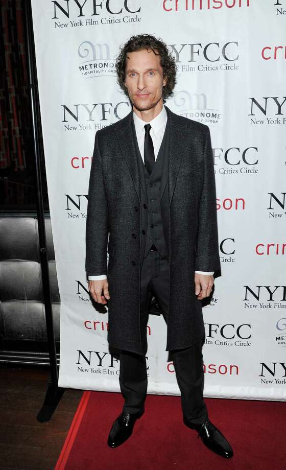 Best Supporting Actor winner Matthew McConaughey arrives at the New York Film Critics Circle awards dinner at the Crimson Club on Monday Jan. 7, 2013 in New York. Photo: Evan Agostini, Evan Agostini/Invision/AP / Invision