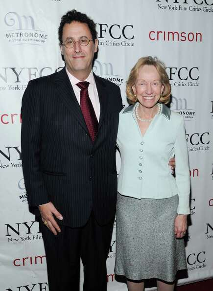 Best Screenplay winner Tony Kushner and author Doris Kearns Goodwin arrive at the New York Film Crit