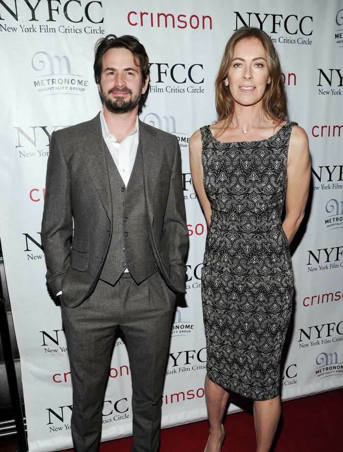 Best Director winner, Kathryn Bigelow, right, and writer and producer Mark Boal arrive at the New York Film Critics Circle awards dinner at the Crimson Club on Monday Jan. 7, 2013 in New York. Photo: Evan Agostini, Evan Agostini/Invision/AP / Invision