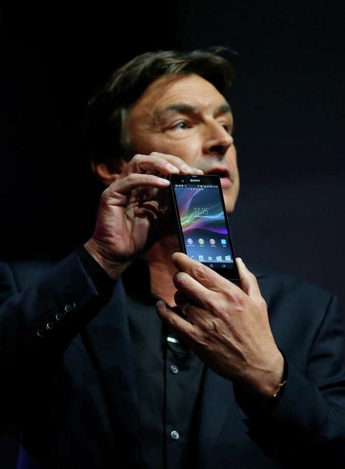 Phil Molyneux, President and CEO of Sony Electronics, introduces the new Xperia Z smartphone Monday. Photo: Jae C. Hong, Associated Press / AP