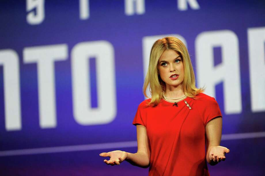 Actress Alice Eve speaks during a keynote address at the 2013 International CES at The Venetian on Monday. Photo: David Becker, Getty Images / 2013 Getty Images