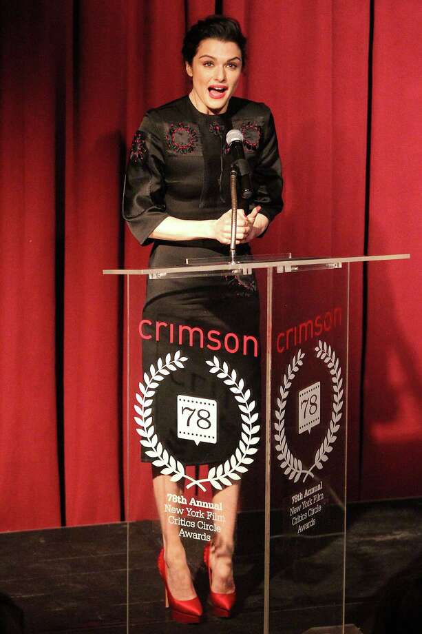 "This Jan. 7, 2013 photo released by Starpix shows Rachel Weisz speaking at the New York Film Critics Circle Awards at the Crimson Club in New York. Weisz won the award for best actress for her performance in ""The Deep Blue Sea."" Photo: Kristina Bumphrey, AP / STARPIX"