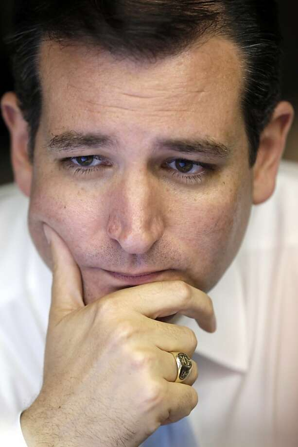 Republican candidate for U.S. Senate Ted Cruz watches election results, Tuesday, Nov. 6, 2012, in Houston. Cruz is running against Democrat Paul Sadler to replace retiring U.S. Sen. Kay Bailey Hutchison. (AP Photo/David J. Phillip) Photo: David J. Phillip, Associated Press