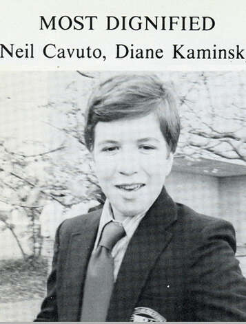 "Neil Cavuto, a 1976 graduate of Immaculate High School in Danbury, was named ""Most Dignified"" in his yearbook. Photo: Contributed Photo"