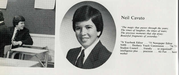 Neil Cavuto's senior photo is shown here from a page in his Immaculate High School yearbook. He graduated from the Danbury school in 1976 and now is a financial analyst, television anchor and author. But the most important thing in his life, he says, is his family. ìWhen my kids are happy, laughing or doing something that makes me proud, that gets me jazzed,î Cavuto says. Photo: Contributed Photo