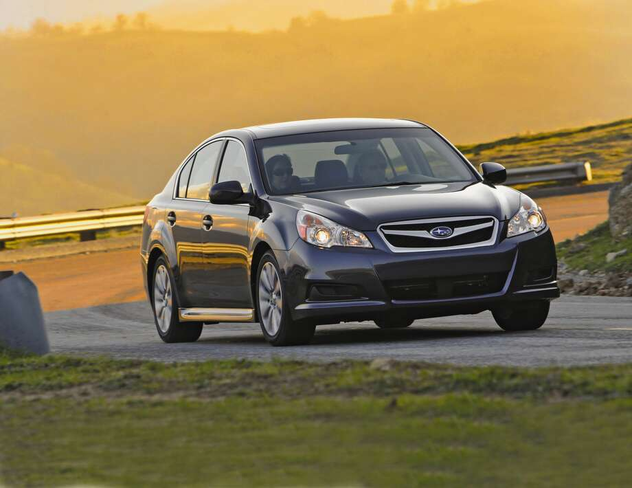 Subaru Legacy: Subaru made a name for itself by  equipping all of its cars with all-wheel drive. Key features: The car  comes with all-wheel drive and a lane departure warning system. Both features  could come in handy when the weather turns sour. Photo: Subaru