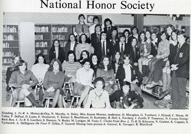 Neil Cavuto's National Honor Society photo is shown here from a page in his Immaculate High School yearbook. He graduated from the Danbury school in 1976 and now is a financial analyst, television anchor and author. Photo: Contributed Photo