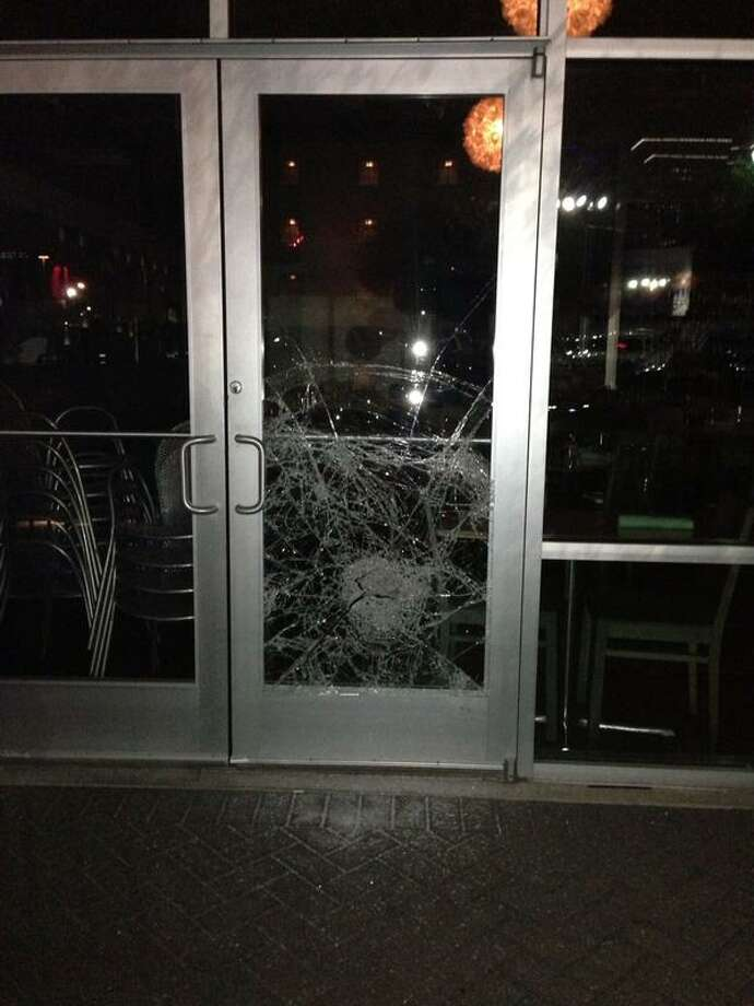 Burglars broke into Reef restaurant at 2600 Travis Street in Midtown Houston, the fourth break-in in just three months. Photo: Bryan Caswell Via Twitter