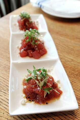 Spice Tuna Poke at South End restaurant in New Canaan on Wednesday, December 19, 2012. Photo: Lindsay Niegelberg, Niegelberg / Stamford Advocate
