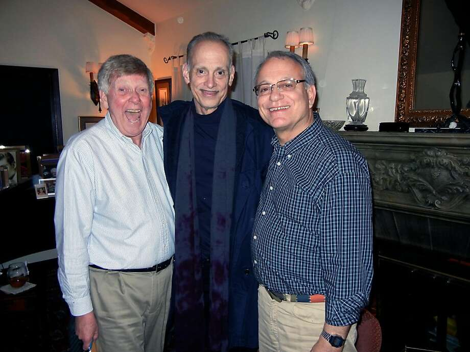 Bill Repp (left) with a pal, filmmaker John Waters, and partner Tom Taffel at their home. Photo: Catherine Bigelow, Special To The Chronicle