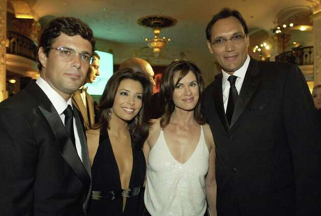 (L-R)  Carlos Bernard 24, Eva Longoria Desperate Housewives, news anchor 20/20 host Elizabeth Vargas, and Jimmy Smits West Wing, pose together at the National Hispanic Foundation For The Arts Annual 'Noche de Gala' at the Mayflower Hotel, September 13, 2005 in Washington, DC. Photo: Chris Greenberg, Getty Images / Getty Images North America