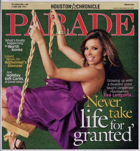 MAGAZINE COVER -- Parade Magazine cover for  Sunday,  November 25, 2007.  Growing up with a disabled