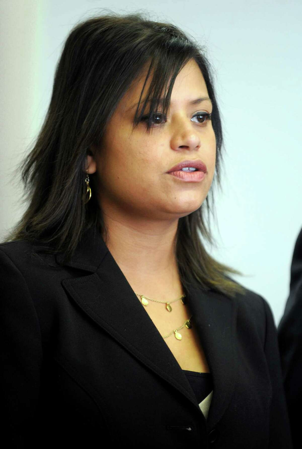 Incoming state Rep. Christina Ayala appears in Superior Court in Bridgeport Friday, Dec. 14, 2012.